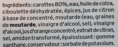 Mes Carottes râpées à la ciboulette - Ingrediënten - fr