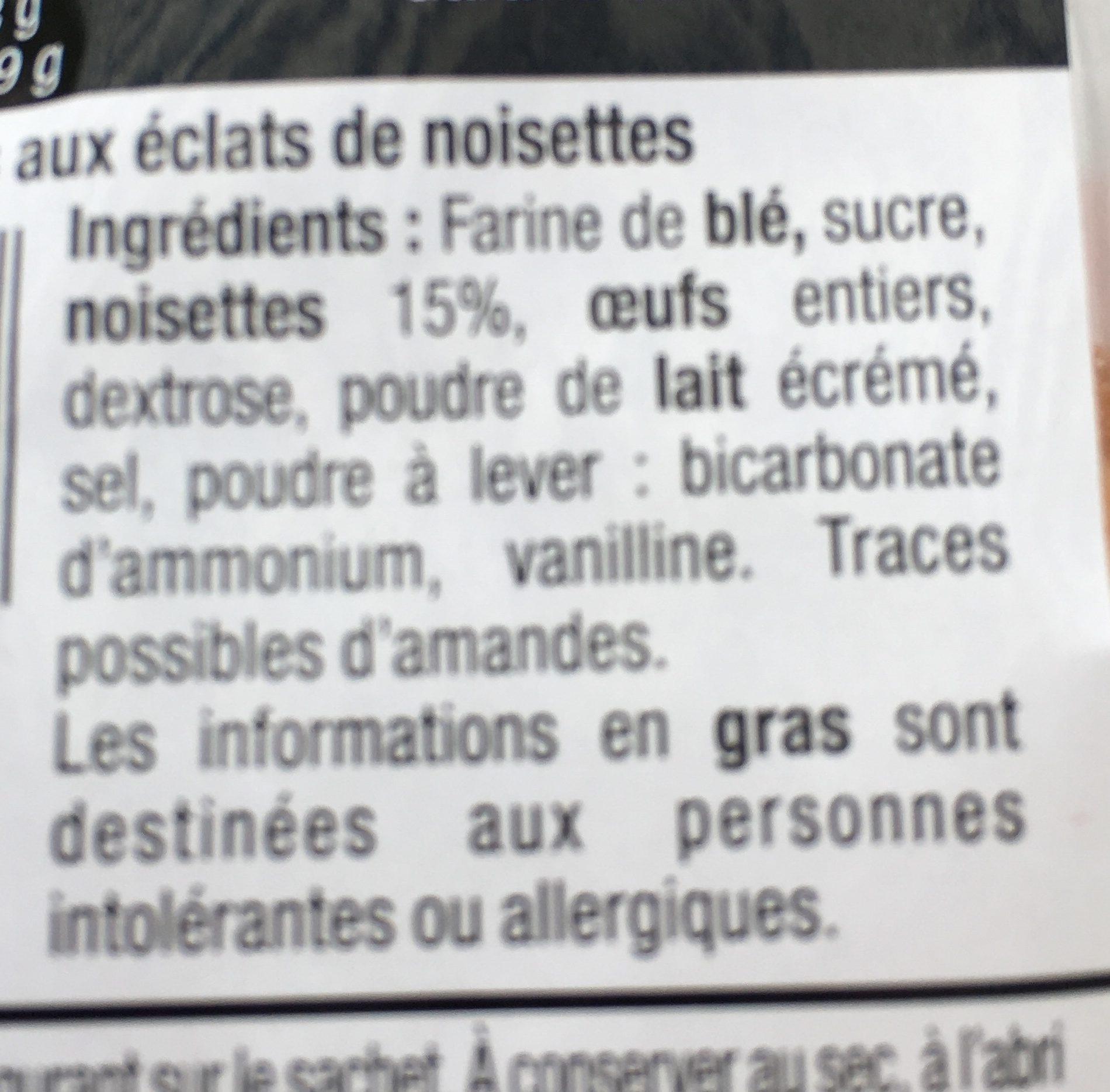 Croquants De Noisettes 180 GR - Ingredienti - fr