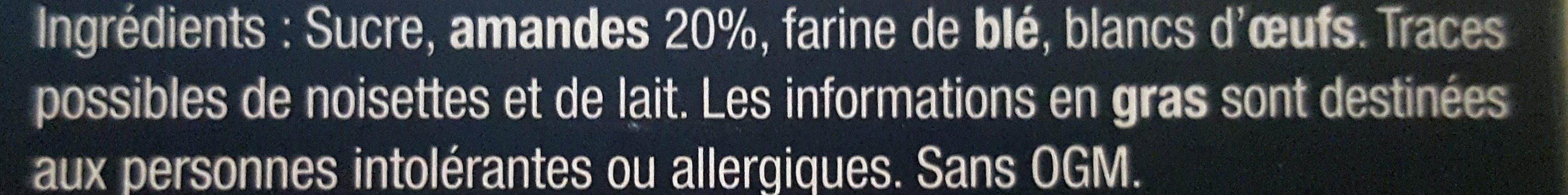 I' Incomparable Croquant De Cordes Maison Bruyere - Ingredients - fr