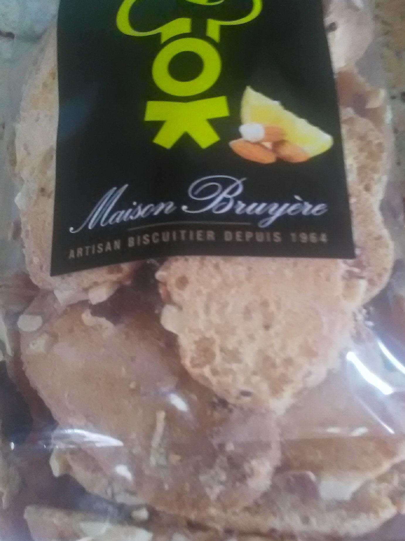 Biscuit amandes citron - Product - fr