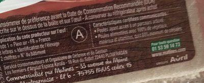 Oeufs fermiers Label Rouge - Nutrition facts