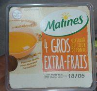 4 Gros oeufs Extra-frais - Product - fr
