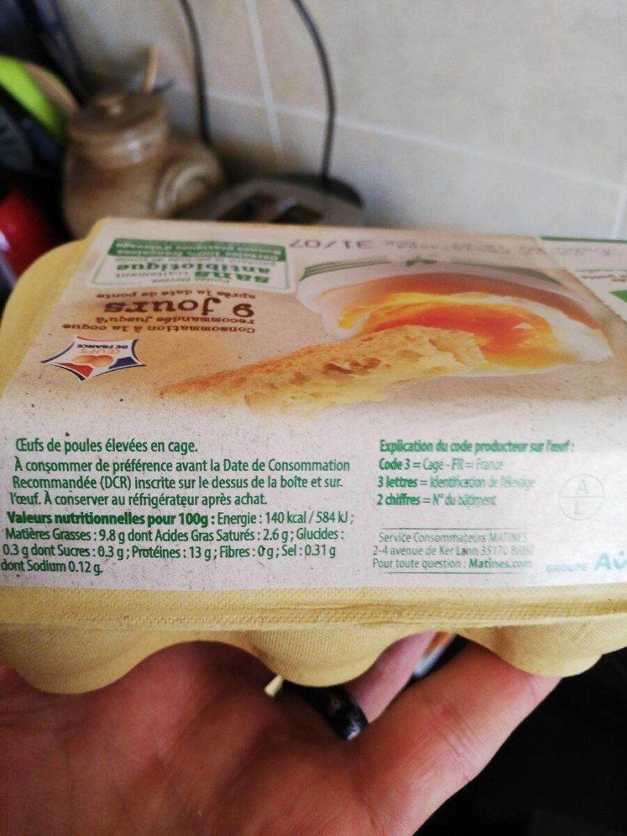 Fraîcheur Coque Gros - Nutrition facts - fr