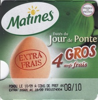 4 Gros oeufs frais - Produit - fr