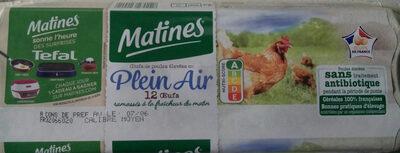 12 Gros Œufs de Poules Élevées en Plein Air - Producto