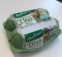 œufs de poule elevees en plein air bio - Product