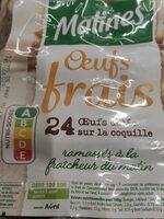 Oeufs frais Matines - Informations nutritionnelles - fr