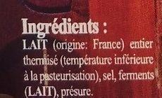 Bouchons du lyonnais pour apéritif au lait thermisé - Ingrédients - fr