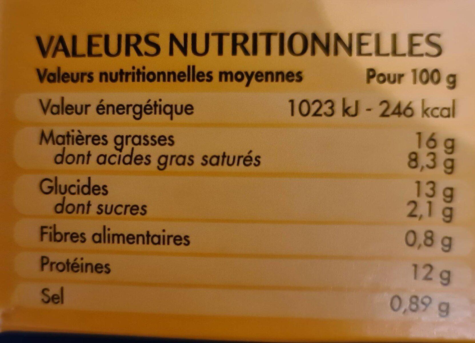 10 Gougères Coeur Fondant Emmental - Voedingswaarden - fr