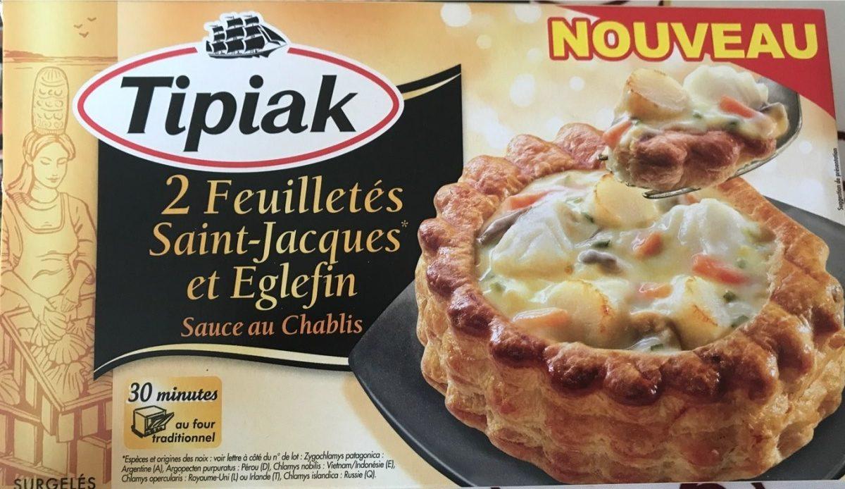 2 Feuilletés Saint-Jacques et Eglefin, Sauce au Chablis - Produit