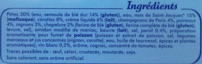 Gratin de Saint-Jacques & Pâtes - Ingrédients - fr