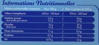 Gratin de Saint-Jacques & Pâtes - Informations nutritionnelles - fr