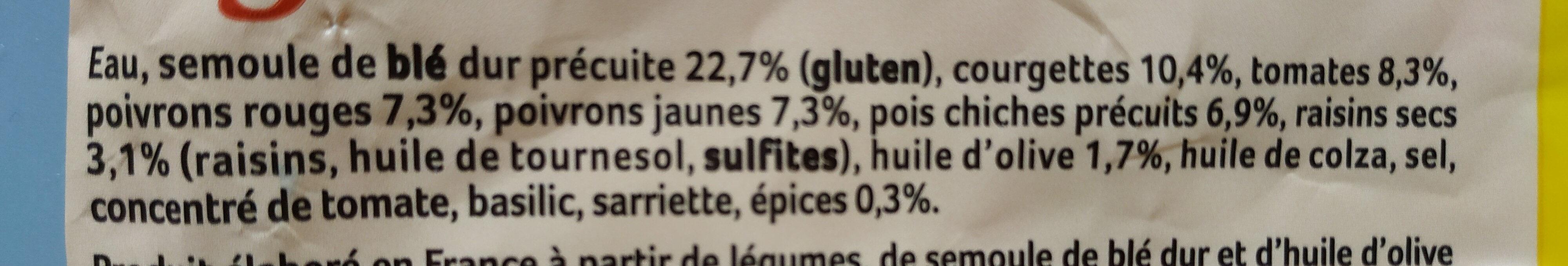 Couscous cuisines aux légumes du soleil - Ingredienti - fr