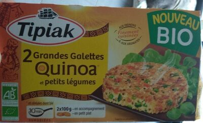 2 grandes galettes quinoa et petits legumes - Product - fr