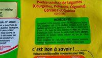 Poêlée cuisinée légumes gourmands, céréales et quinoa - Ingredients