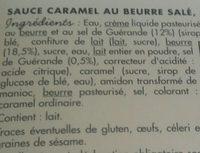 Sauce au Caramel au Beurre Salé - Ingrédients