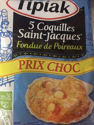Coquille saint jacques fondue de poireaux - Product - fr