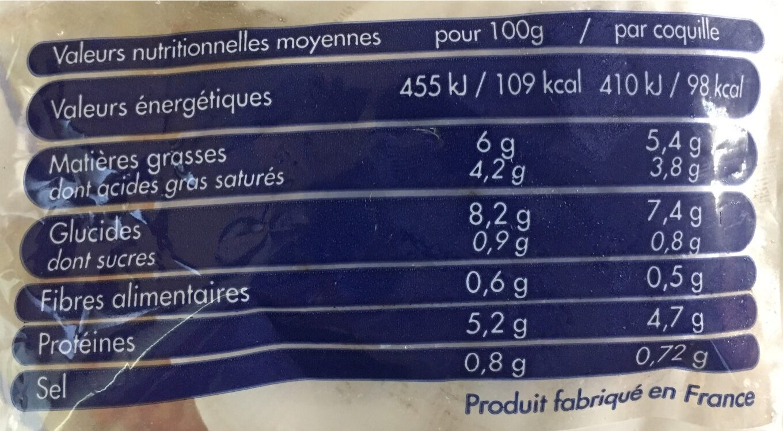 4 coquilles saint-jacques - Voedigswaarden
