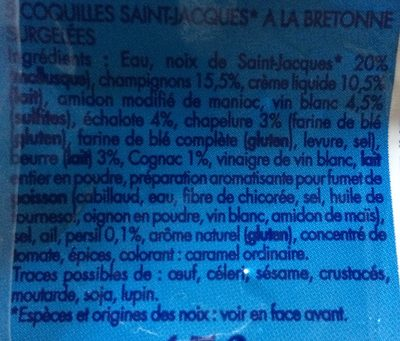 5 coquilles saint jacques la bretonne tipiak 5 coquilles 450 g - Coquille saint jacques bretonne champignons ...