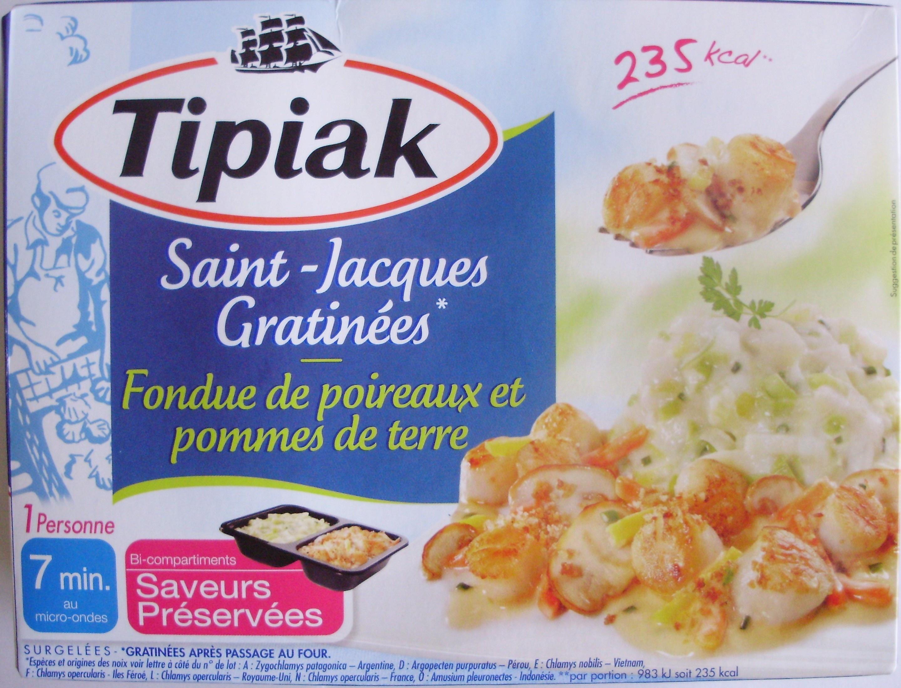 Saint-Jacques Gratinées*-Fondue de poireaux et pommes de terre, Surgelées - Product - fr