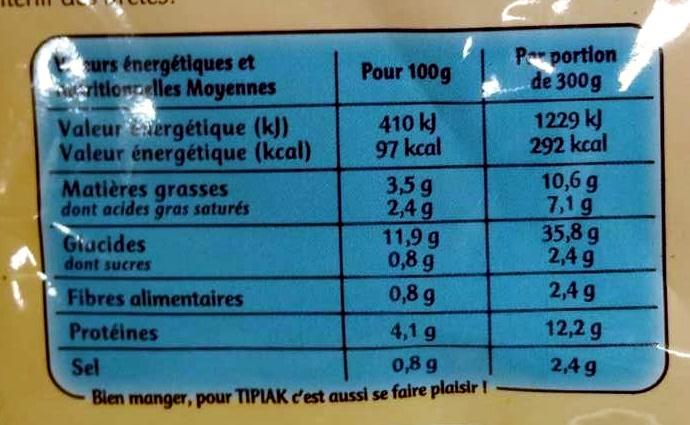 Saint-Jacques* & Riz à la Bretonne à Poêler, Surgelé - Voedingswaarden - fr