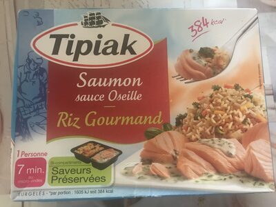 Saumon sauce oseille riz gourmand - Produit