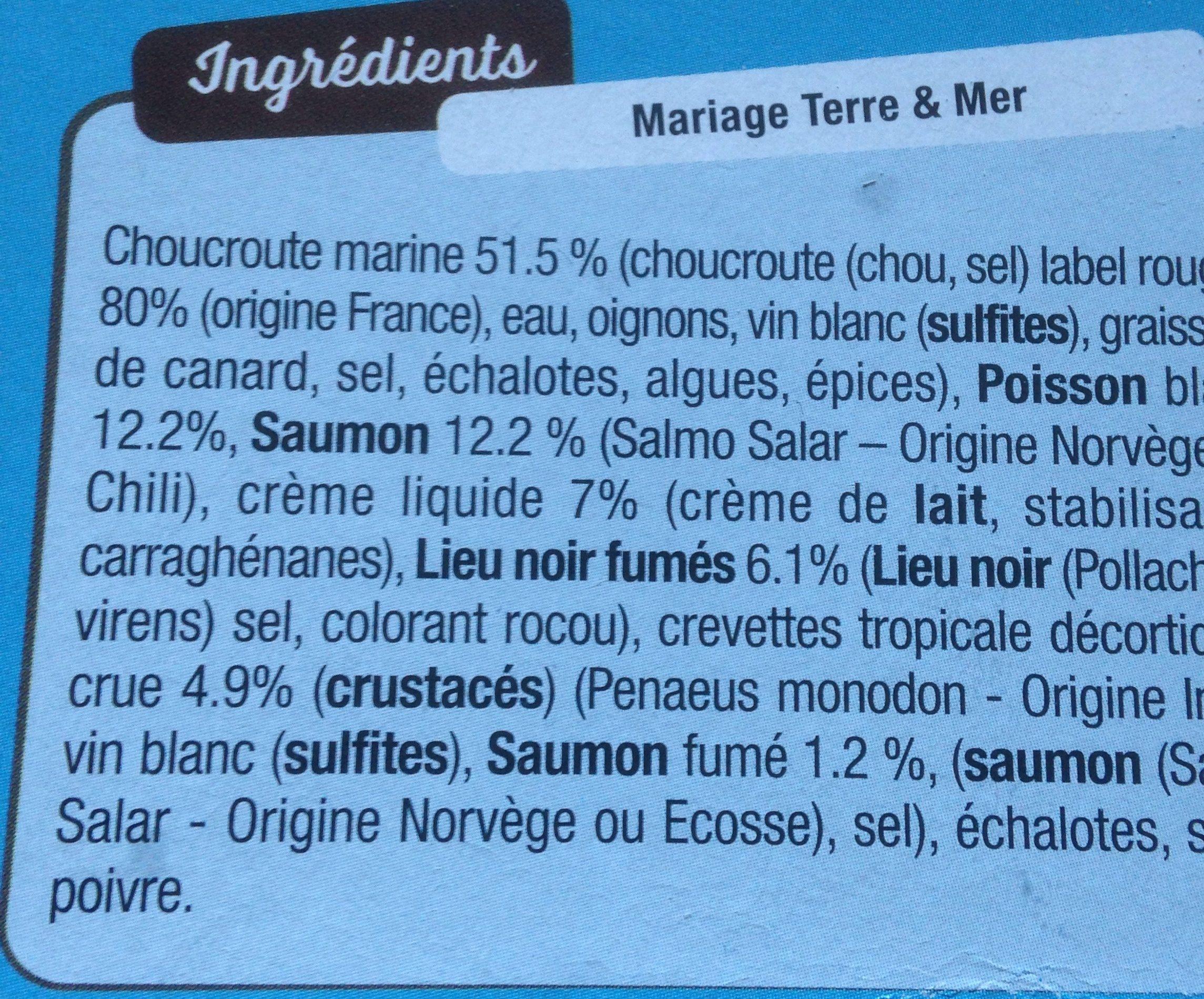 Choucroute de la mer - Ingrédients - fr