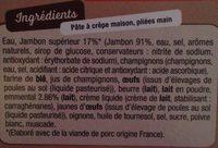 2 Ficelles Picardes - Ingredients - fr