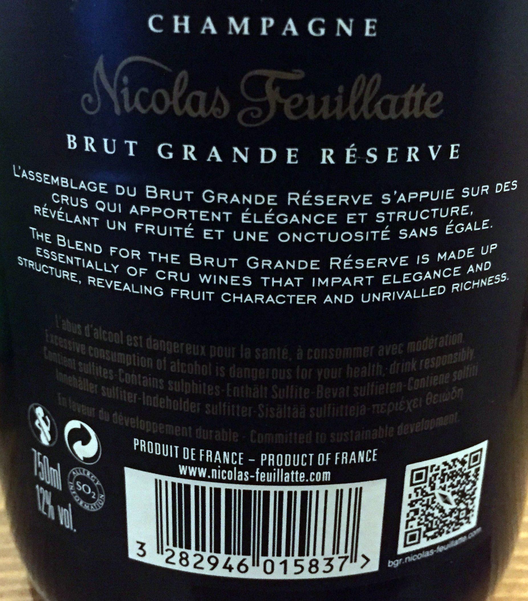 Brut Grande Réserve - Ingrediënten