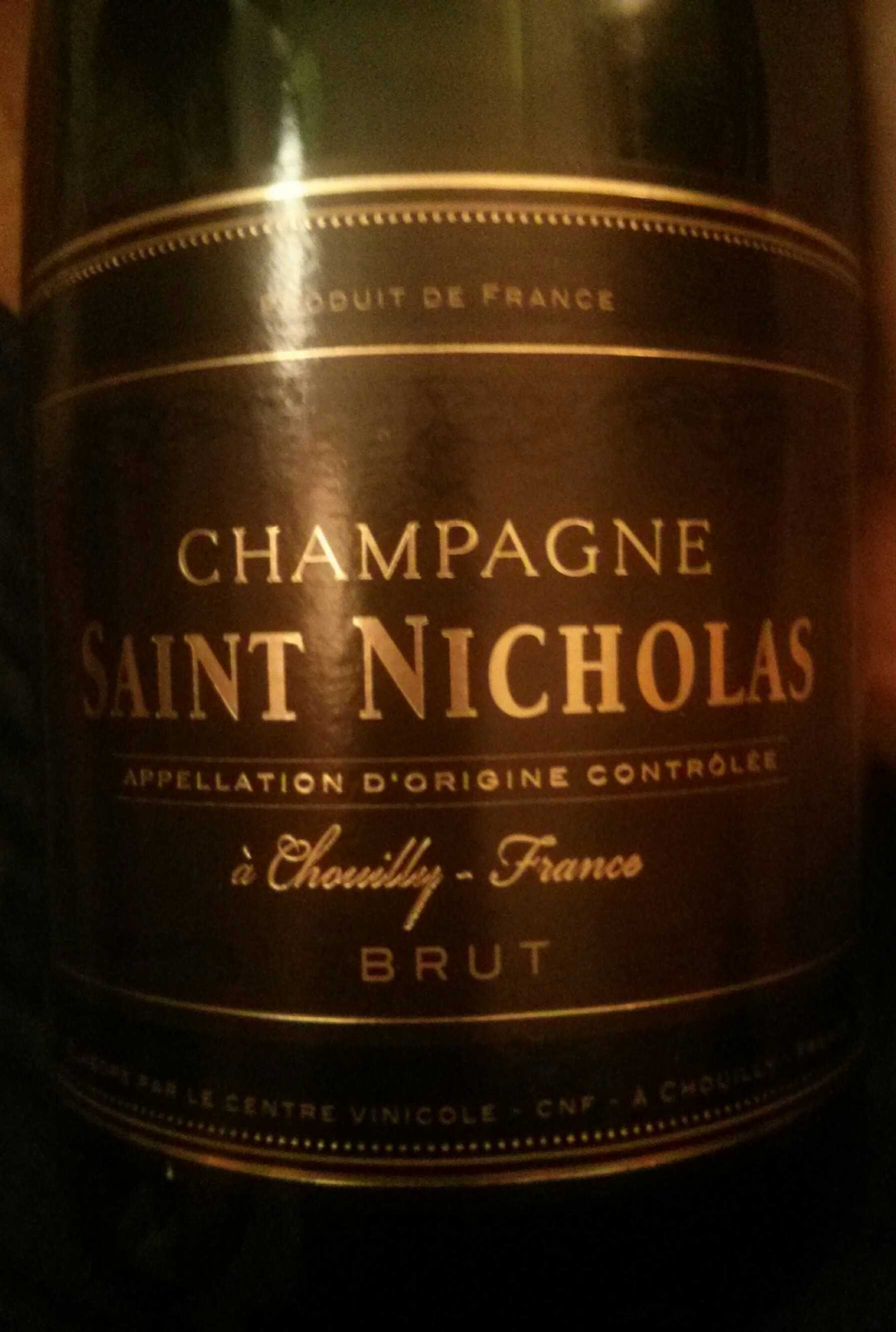 Champagne saint nicholas brut 750 ml - Combien de bouteille de champagne par personne ...
