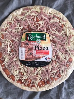 Réghalal Pizza jambon de dinde emmental halal la pizza de 450 g - Produit - fr