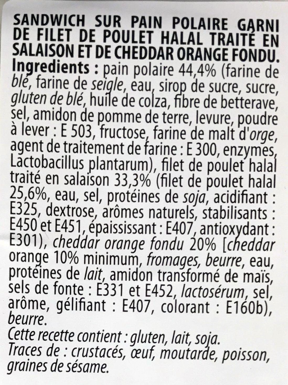 Le Suédois Poulet Cheddar - Ingrédients - fr