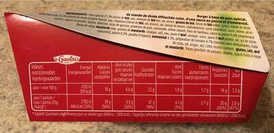 Extra burger fondant de volaille sauce poivre - Informations nutritionnelles
