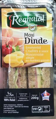 Maxi Dinde Emmental Crudités & sauce Mayonnaise allégée - Produit