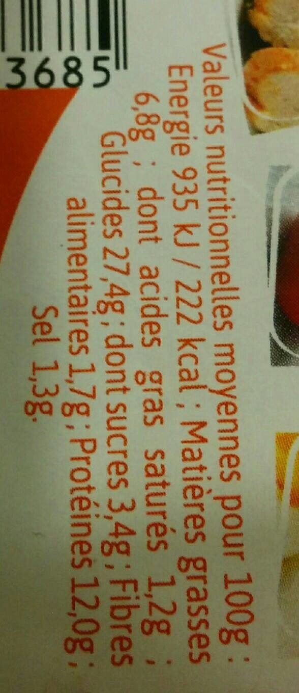 Sandwich Poulet tomate oeuf - Voedingswaarden - fr