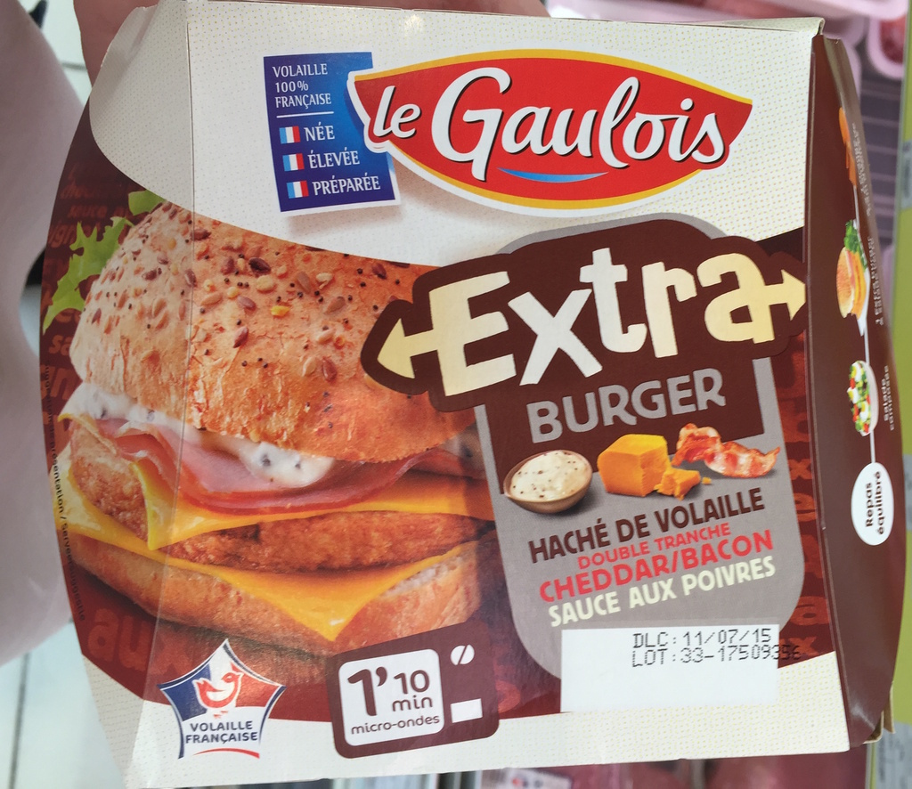Extra burger haché de volaille fromage fondu bacon - Product