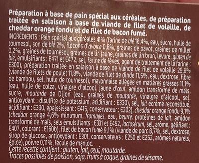 Extra burger haché de volaille fromage fondu bacon - Ingredients