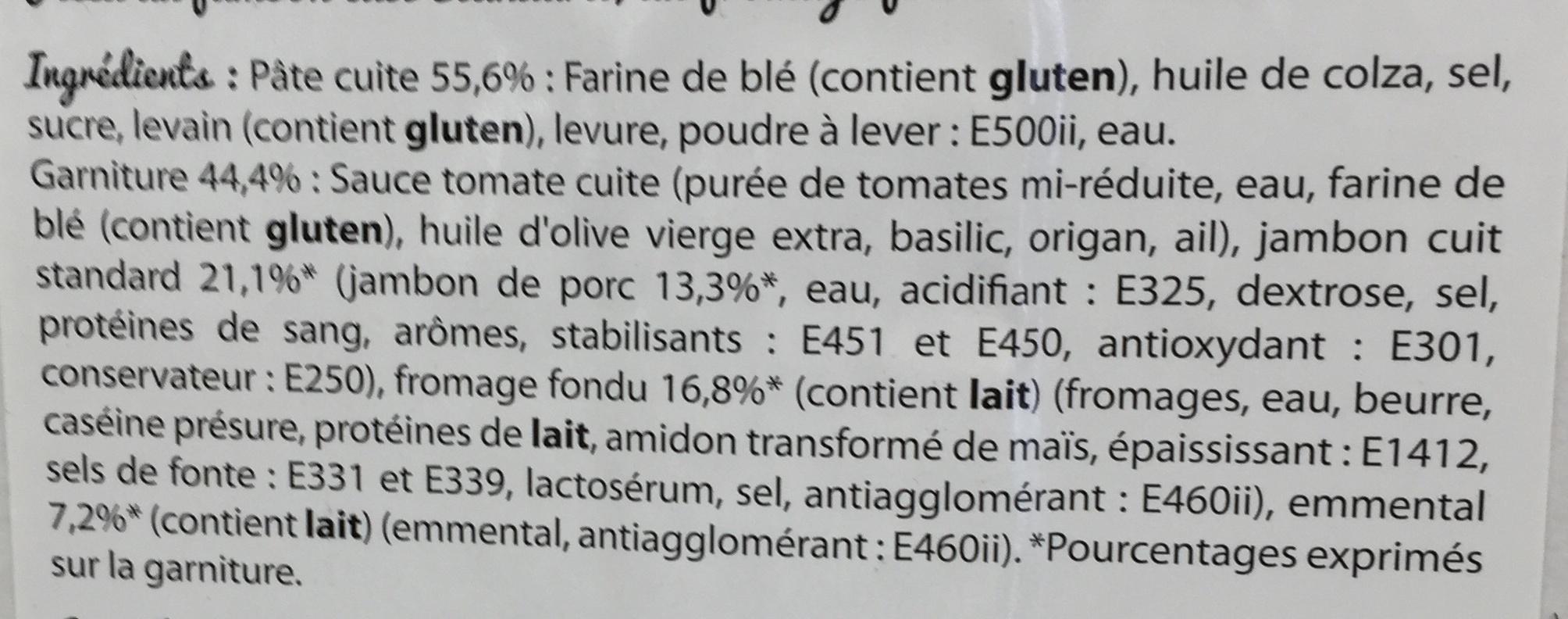 Pizza jambon fromage - Ingrediënten - fr