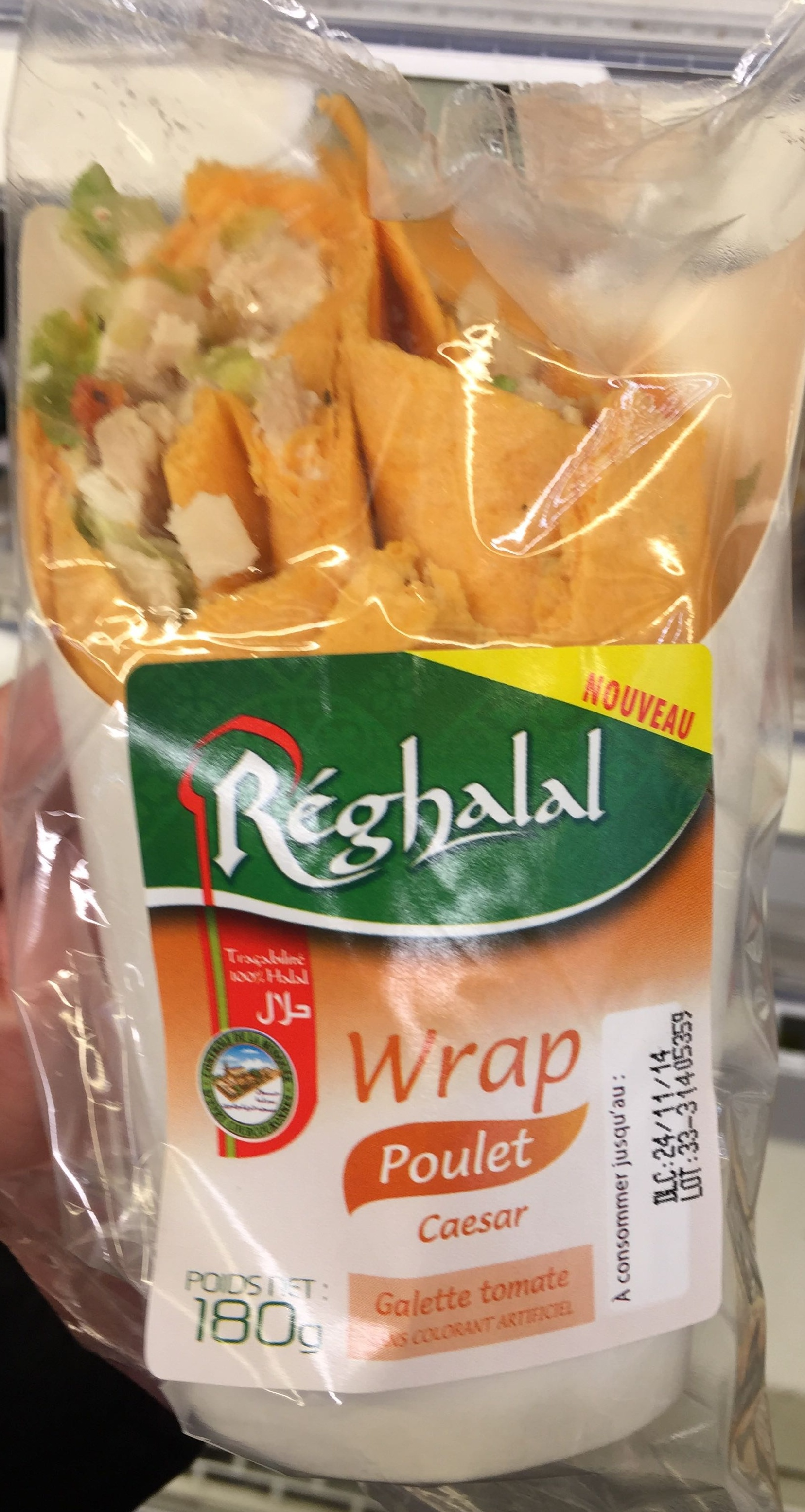 Wrap Poulet Caeser Galette Tomate - Product - fr