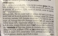 Wrap Poulet Caeser Galette Tomate - Ingrediënten - fr