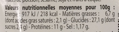 Wrap Poulet Caeser Galette Tomate - Voedingswaarden - fr