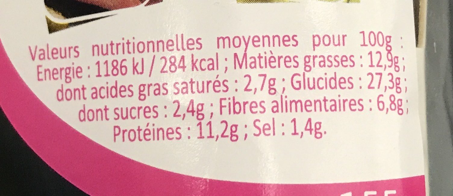 Jambon aux herbes concombre - Informations nutritionnelles - fr