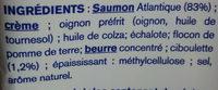 Saumon Ciboulette Extra-Moelleux - Ingrédients