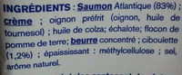 Saumon Ciboulette Extra-Moelleux - Ingrediënten - fr