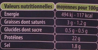 Le bon jambon breton - Voedingswaarden - fr