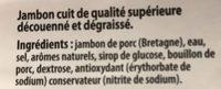 Le bon jambon breton - Ingrediënten - fr
