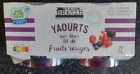 Yaourts sur leur lit de fruits rouges - Produit - fr