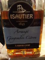 L'arrangé Gingembre Citron Isautier - Produit - fr
