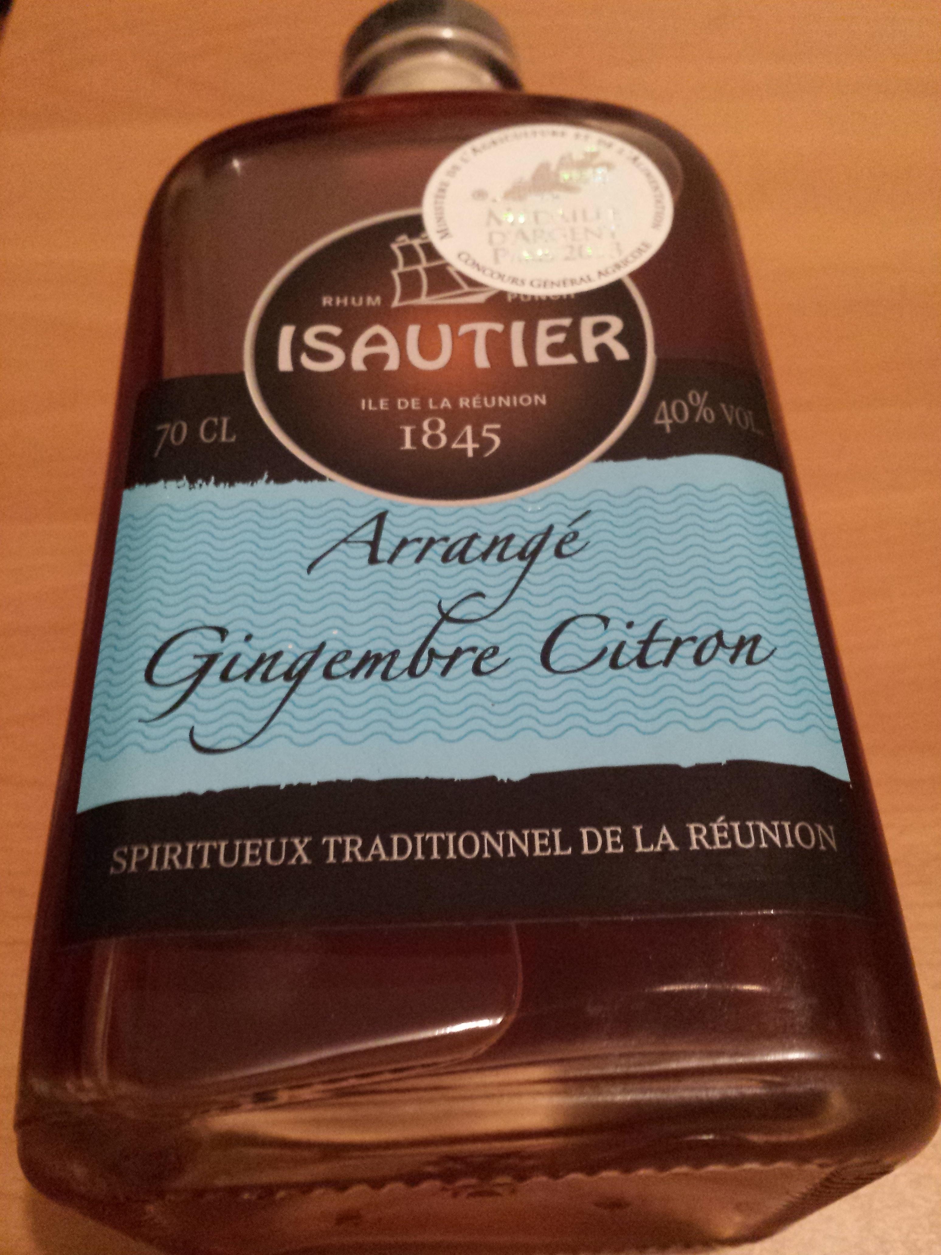 Rhum Arrangé Gingembre Citron - Product - fr