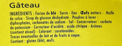 Barre Patissière - Ingredients - fr